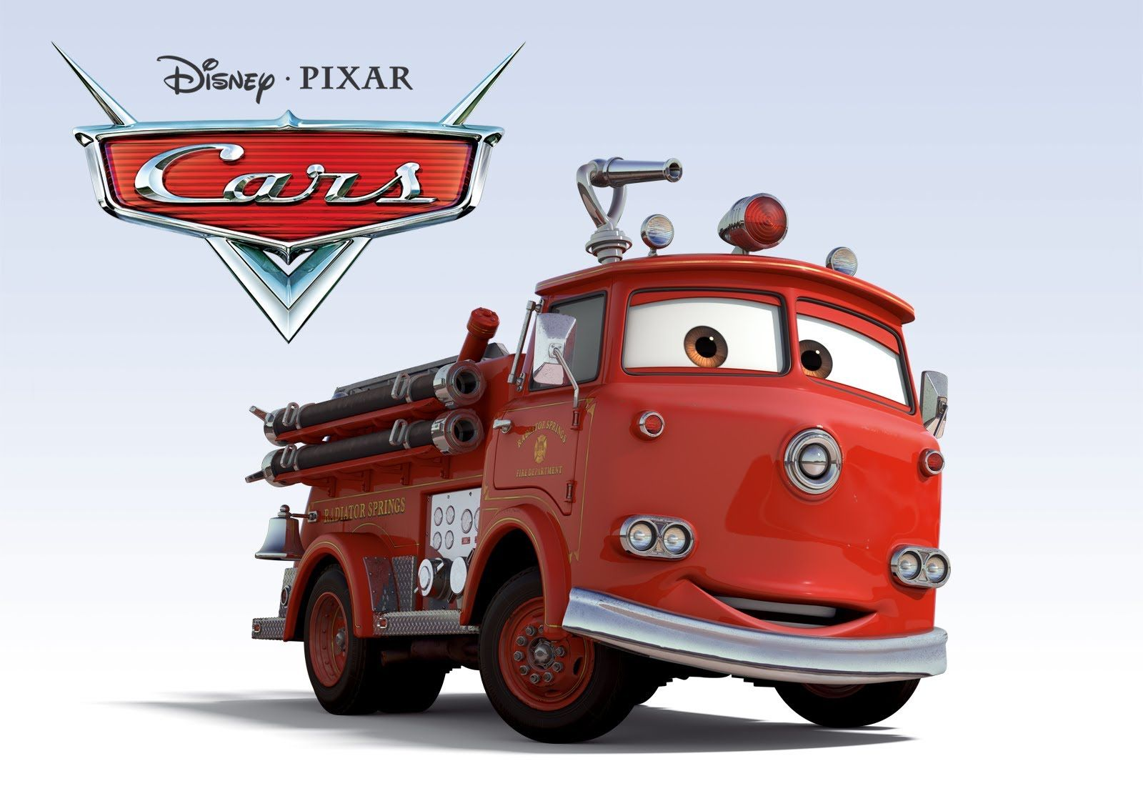 This Is Wallpaper Of Red The Fire Truck From The Disney Pixar Cg