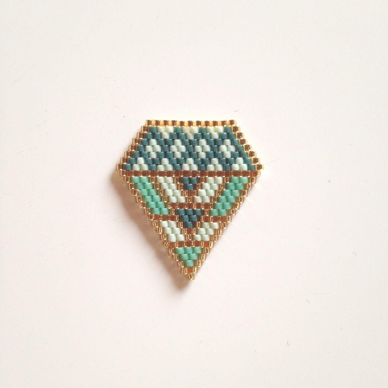 Broche tissage brick stitch miyuki