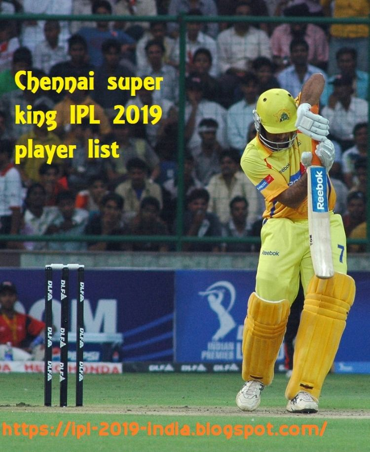 IPL CSK Team 2019 Players List: Chennai Super Kings Is One