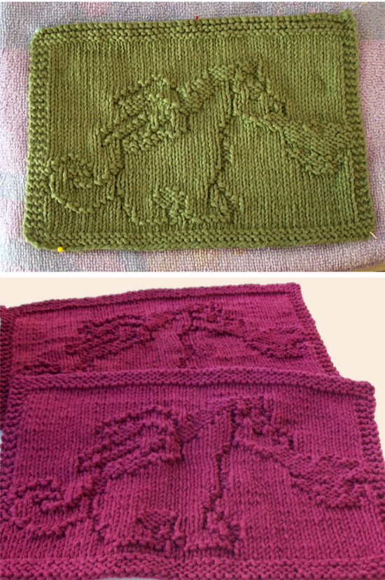 Free Knitting Pattern For Dragon Cloths Knit And Purl Stitches