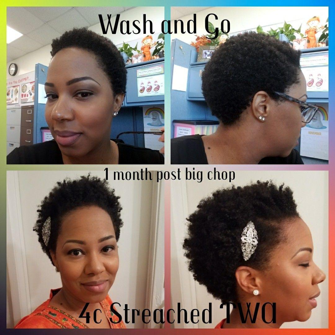 4c twa wash and go vs streached twist out twa 4c hair