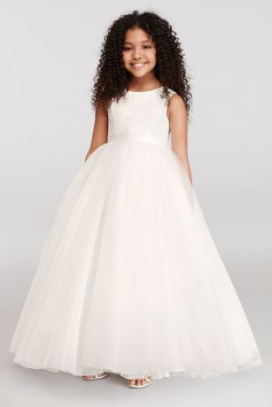 18602942cb7c1 Ball Gown Flower Girl Dress with Heart Cutout Style RK1368, White, 6 ...