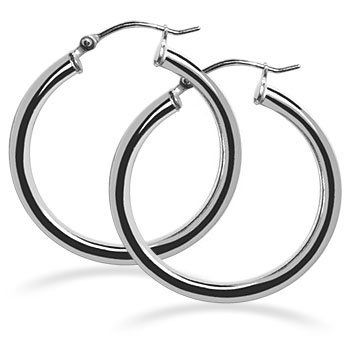 Bdes004 2mm Thick Sterling Silver Hoop Earrings With 0 6 Diameter From Gem Avenue