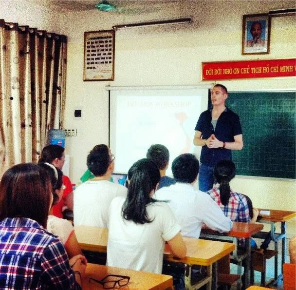 "Jonathan served at the ""promoting HIV/AIDS awareness"" project in #Hanoi, #Vietnam. His interview! #HIV #AIDS #Volunteer"