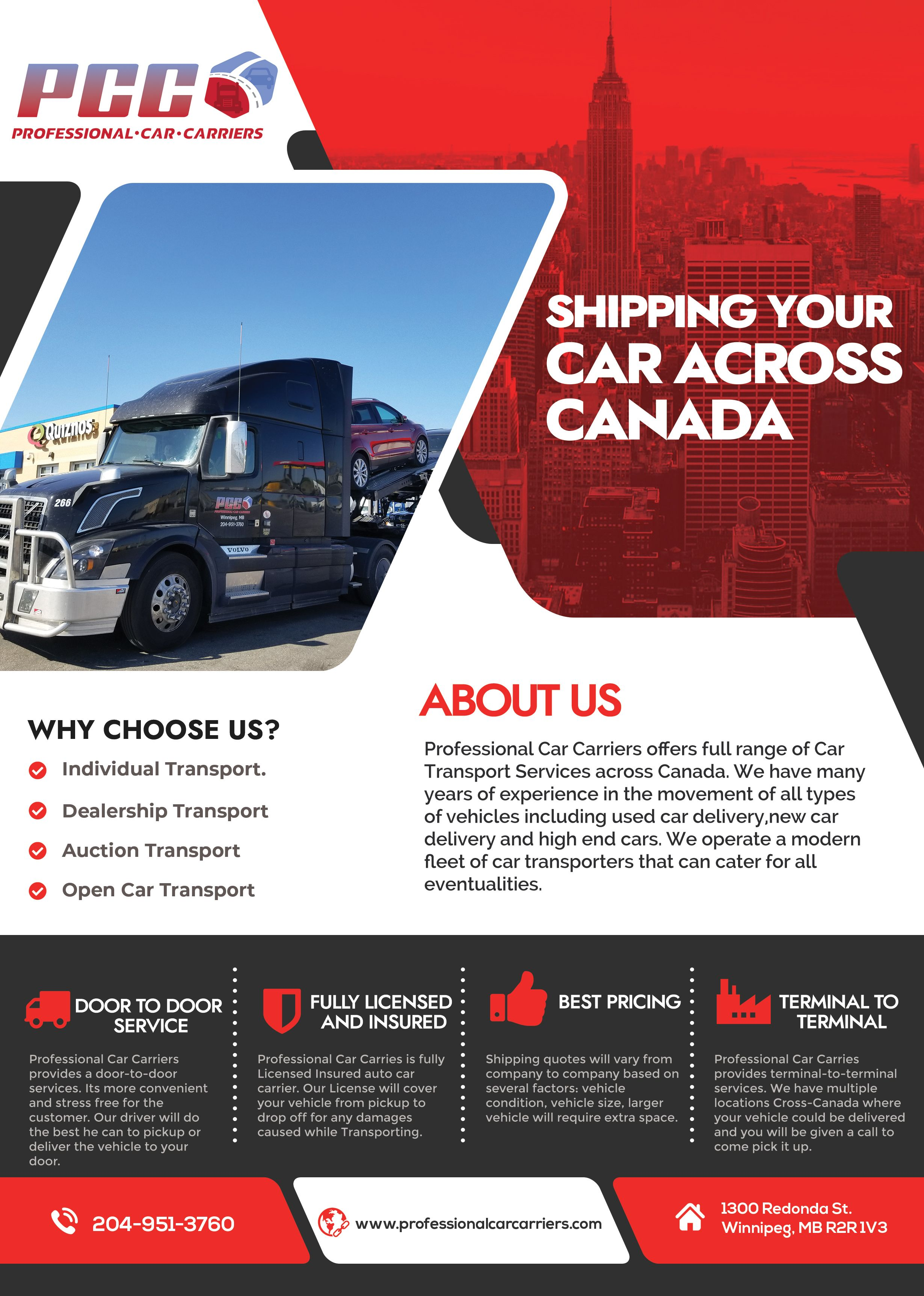 Shipping Your Car Across Canada Transport Services Car