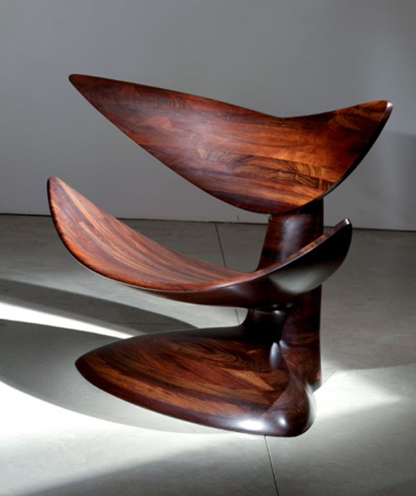 CHAIR A lovely wooden chair design by Wendell Castle  via fortheloveofchairs is part of Wooden chair -