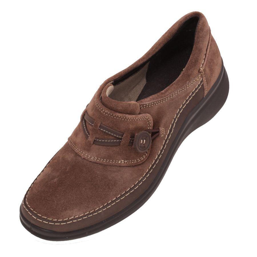 69dd9d121f336  Zapatos para  Mujer en  Gamuza color  Café  terra marca  Flexi. Zapato  cómodo ligero tipo tenis