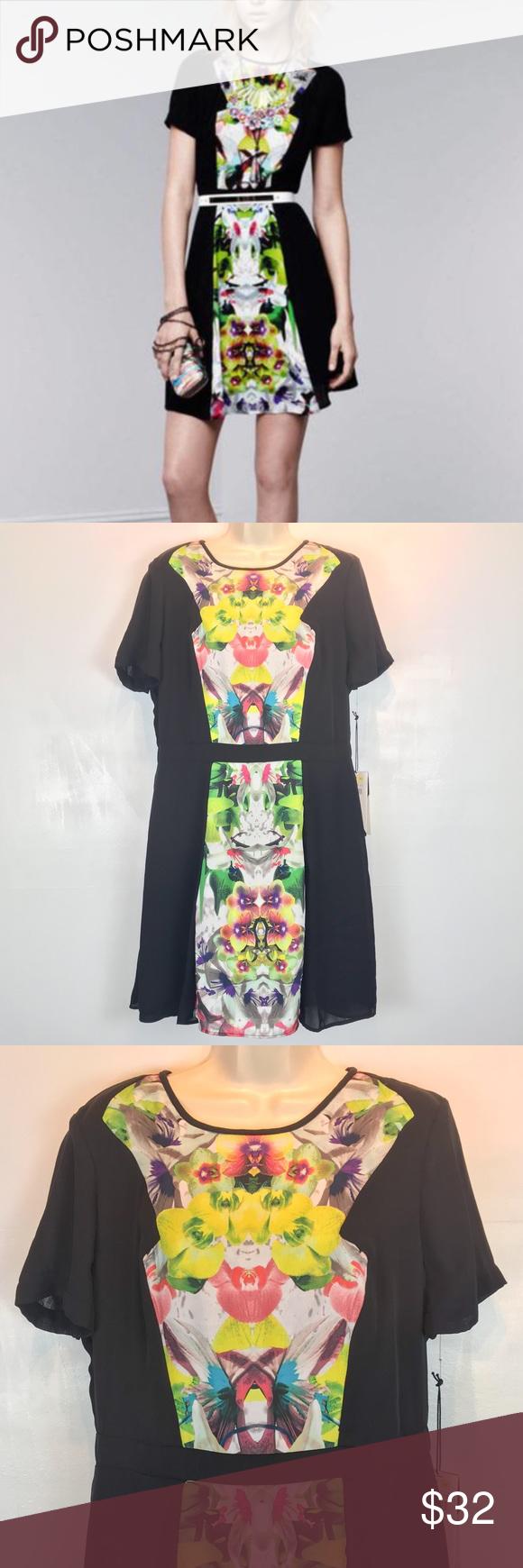 Nwt Prabal Gurung For Target Dress Sz 14 Black Floral Print Dress Floral Dress Black Prabal Gurung [ 1740 x 580 Pixel ]