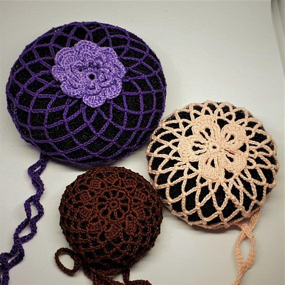 Chocolate flamenco hair bun holder Bun cover Crocheted ...