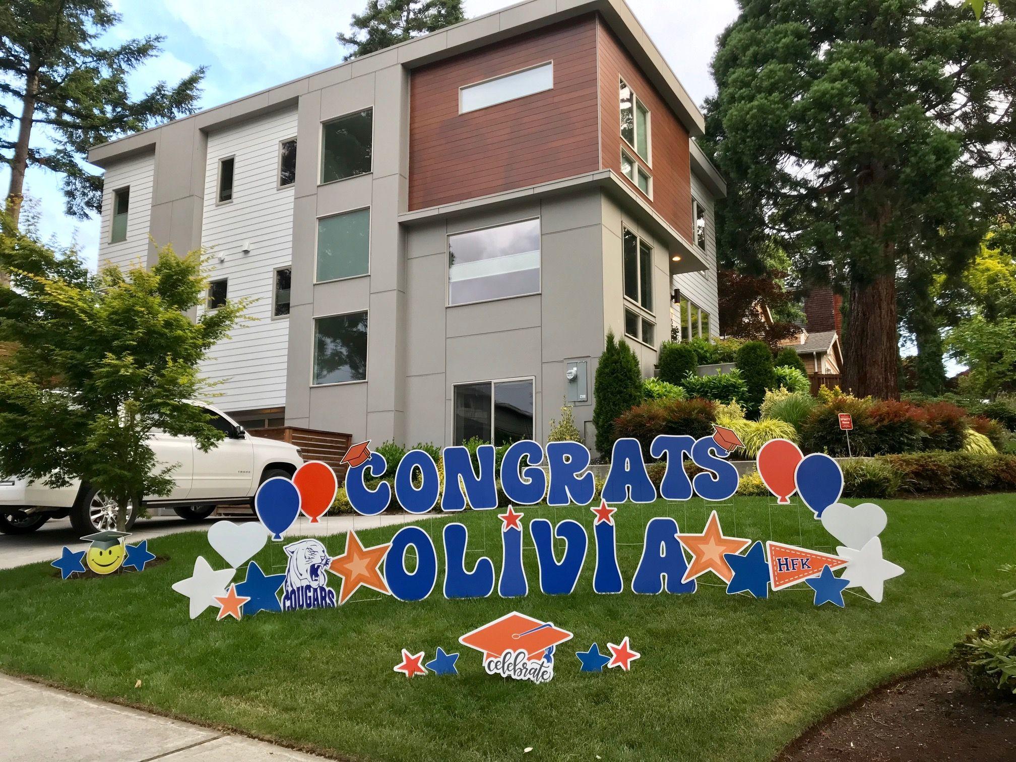 Congrats grad signs our graduation yard signs make the