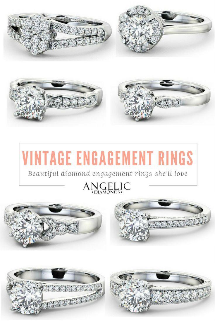 Vintage engagement rings beautiful diamond engagement rings sheull