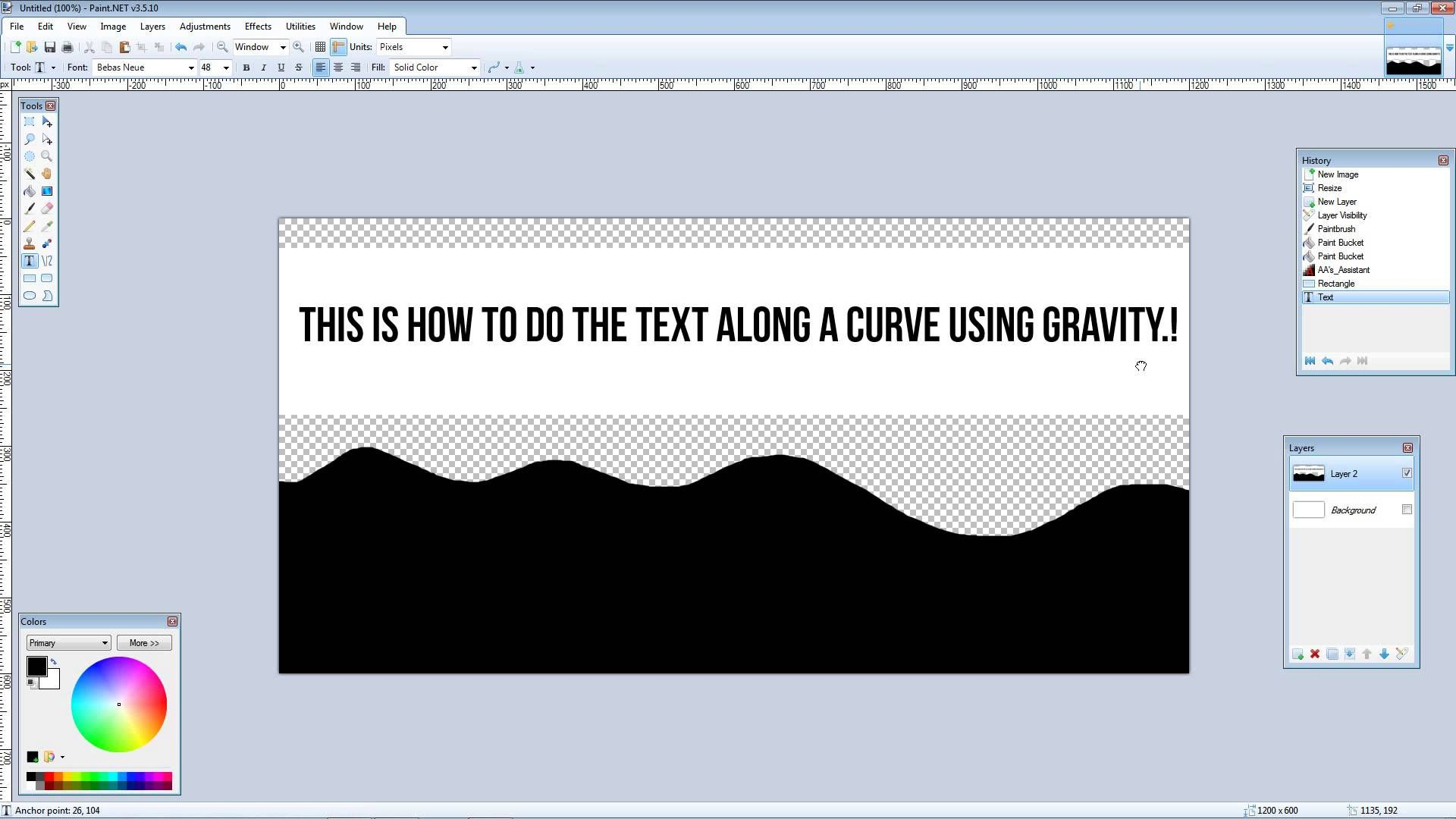 Paint Net How To Make Text Along A Curve