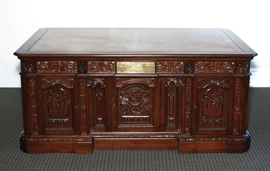 oval office desk. 6Ft Dark Mahogany Presidential Oval Office Resolute Desk (SO) ORG-WNC-F