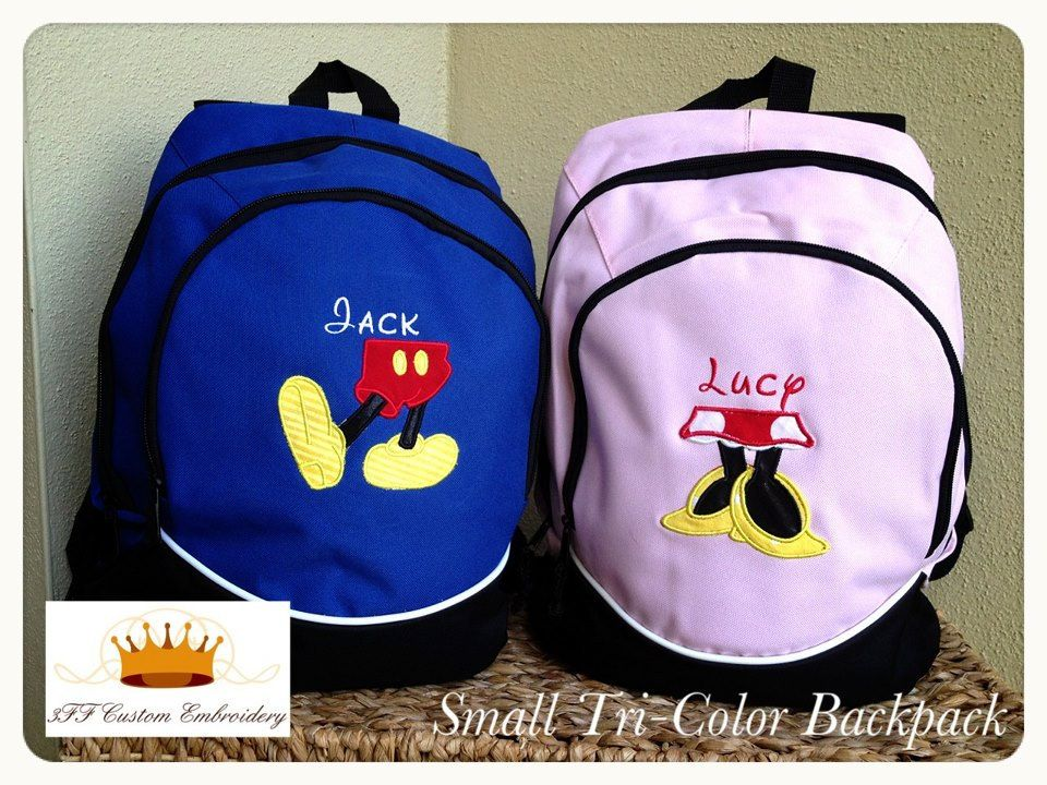 Personalized Backpack  Great for School Pick your Color and Design  Embroidery and Applique. $20.99, via Etsy.