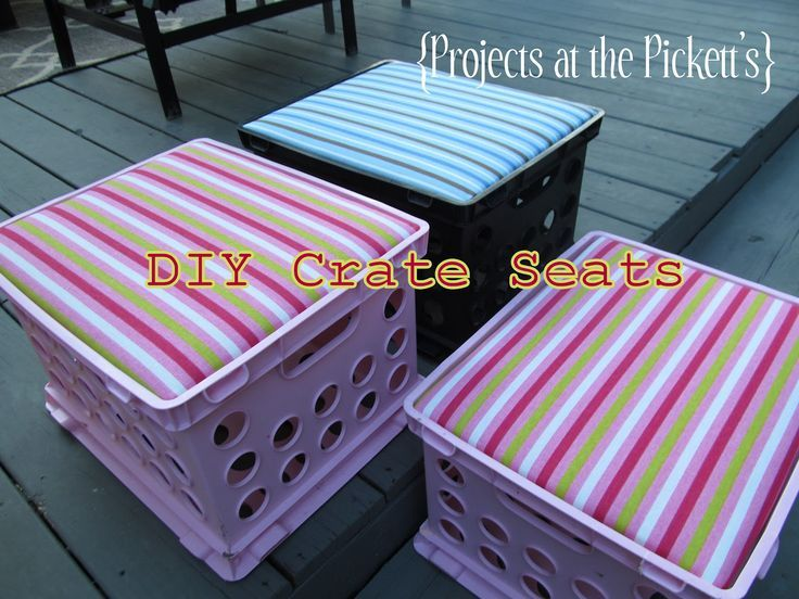DIY Crate Seats With Removable Tops For Storage. Looking Forward To Making  These For My