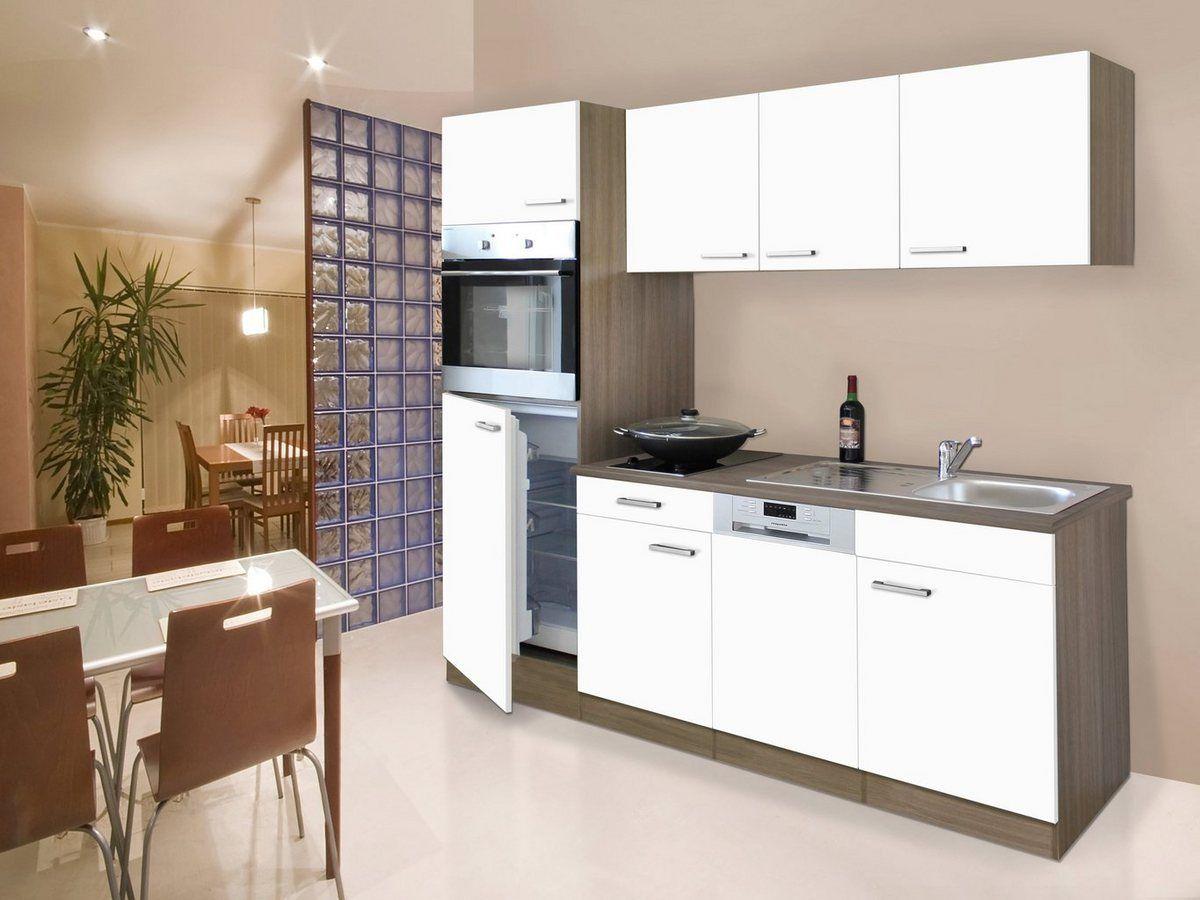 Küchenzeile mit EGeräten »York«, Breite 205 in 2020