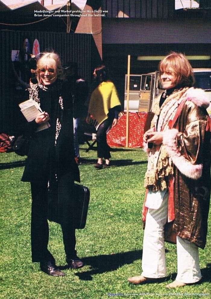 Nico and Brian Jones at the Monterey Pop Festival, 1967