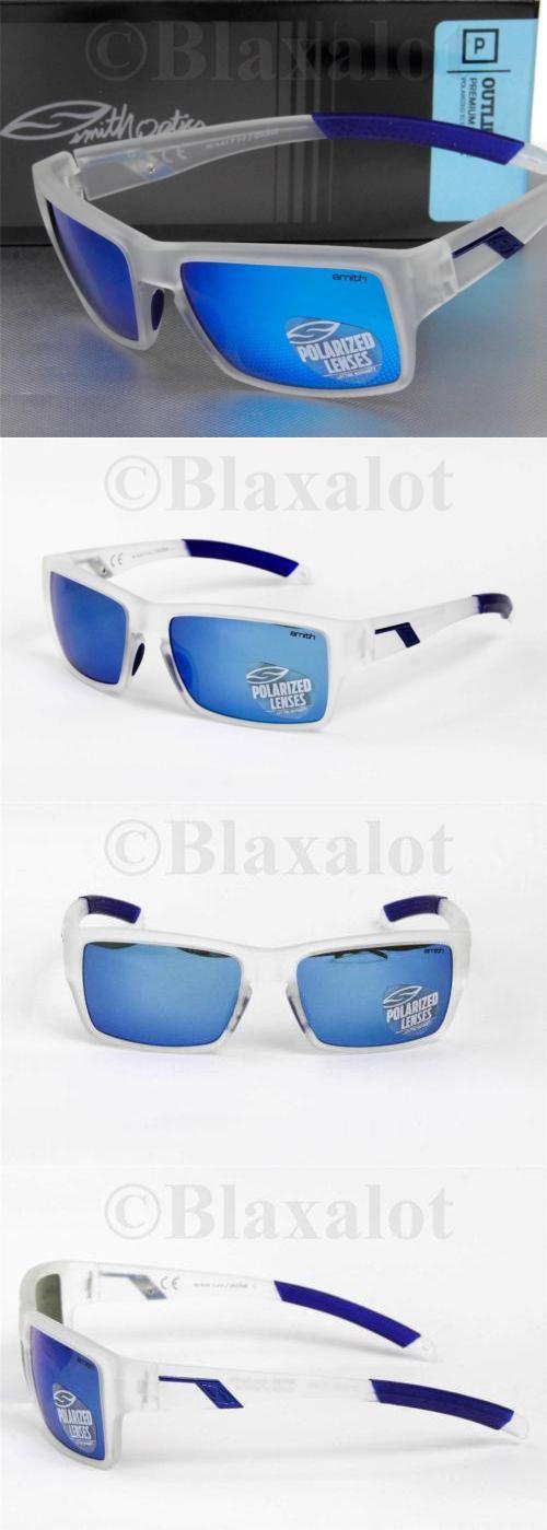 7da005da27 Sunglasses 79720  New Smith Outlier Polarized Sunglasses Matte Clear Frame  Blue Mirror Lens -  BUY IT NOW ONLY   64.95 on eBay!