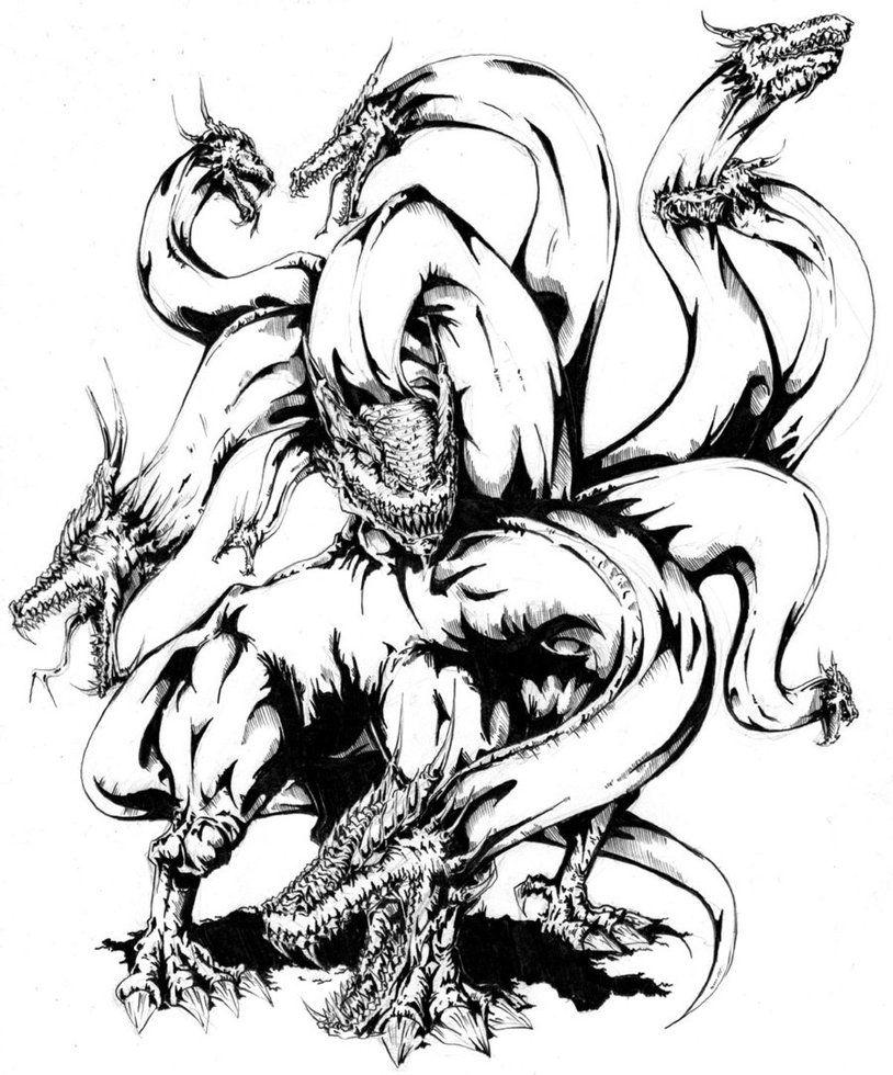 Greek Hydra Tattoo : greek, hydra, tattoo, Hydra, DeviantArt, Mythology,, Monster, Tattoo,, Greek, Mythology, Tattoos