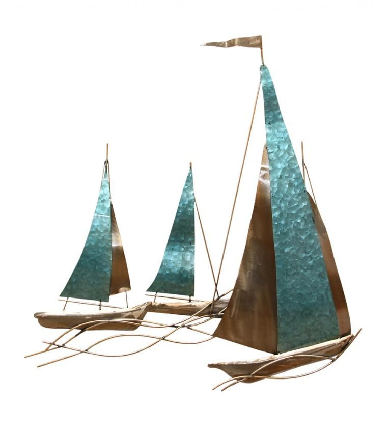 The Aquamarine Dream Sailboat Plaque Is A Relaxing Vision For Your