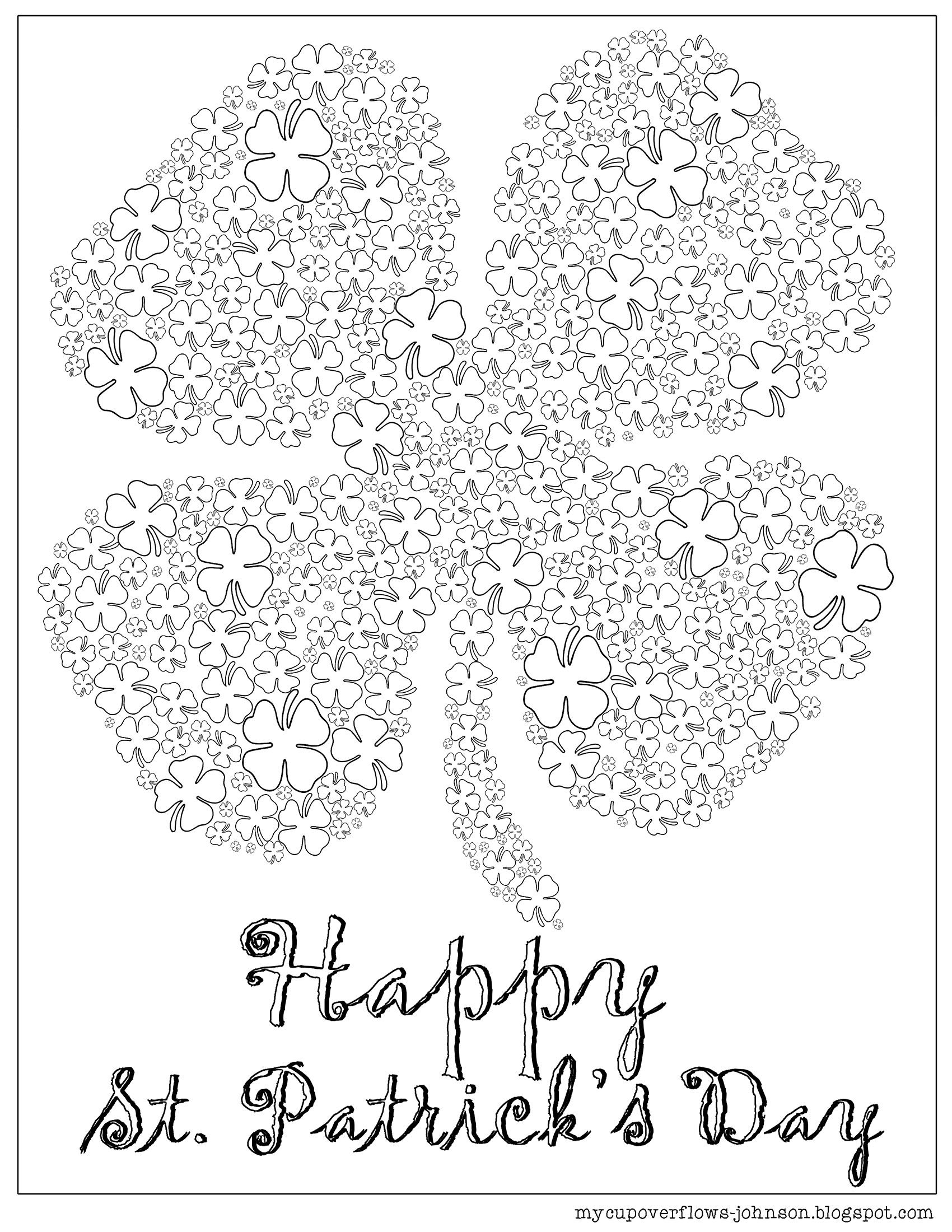 St Patrick S Day Coloring Pages Easter Art Project St Patricks Day Crafts For Kids Coloring Pages [ 2200 x 1700 Pixel ]