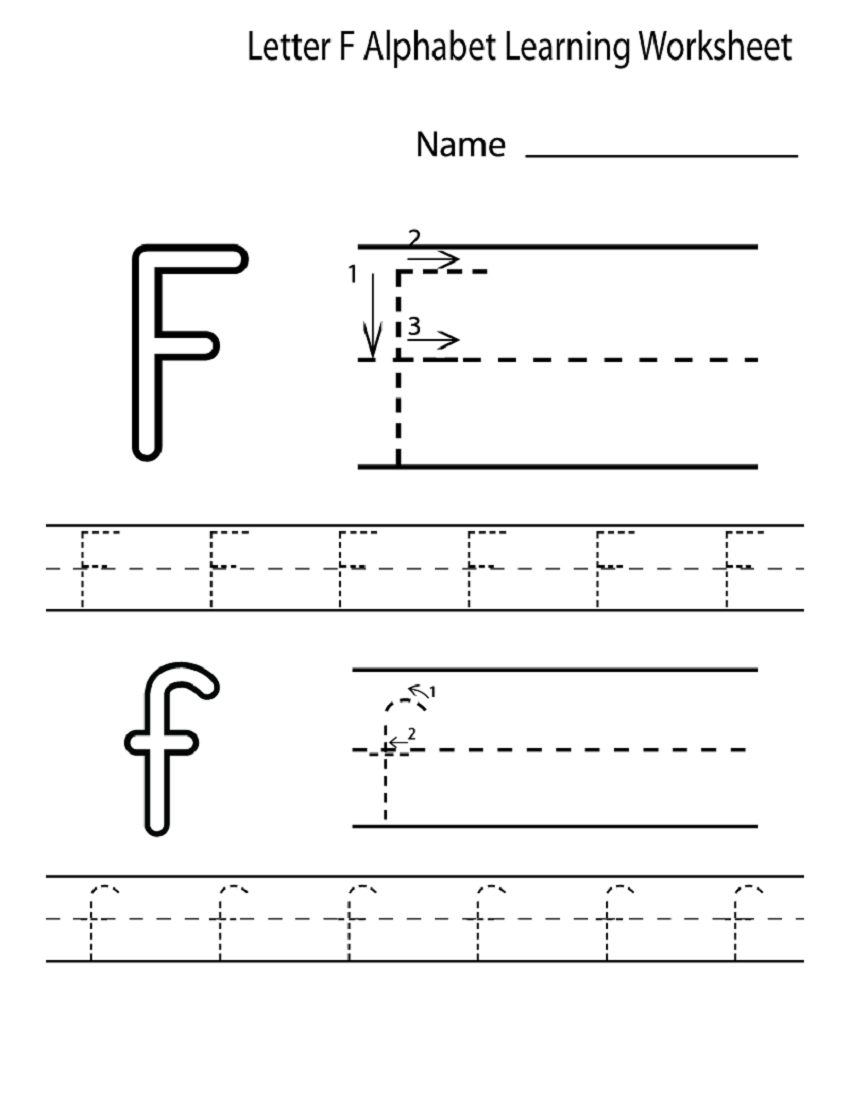 Letter F Worksheet for Preschool and Kindergarten | Alphabet and ...