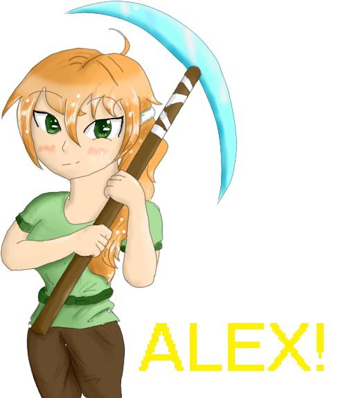 Steve And Alex Minecraft Drawings Minecraft Anime Minecraft Art