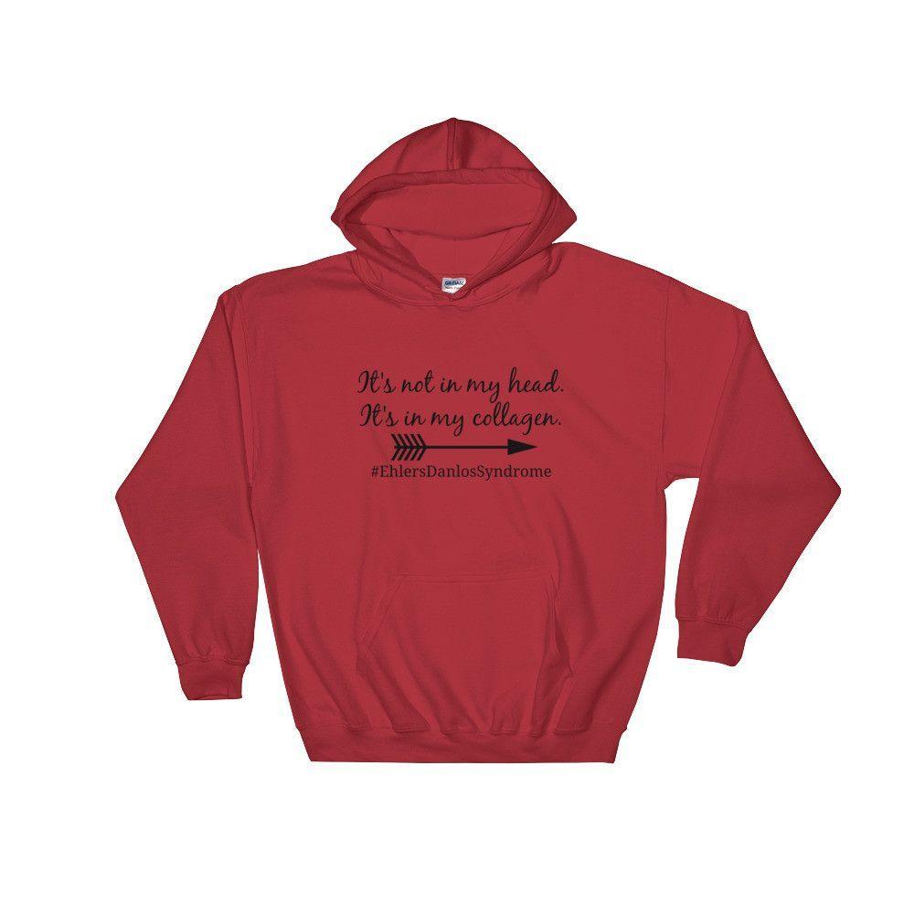 Itus not in my head itus in my collagen hoodie sweatshirt