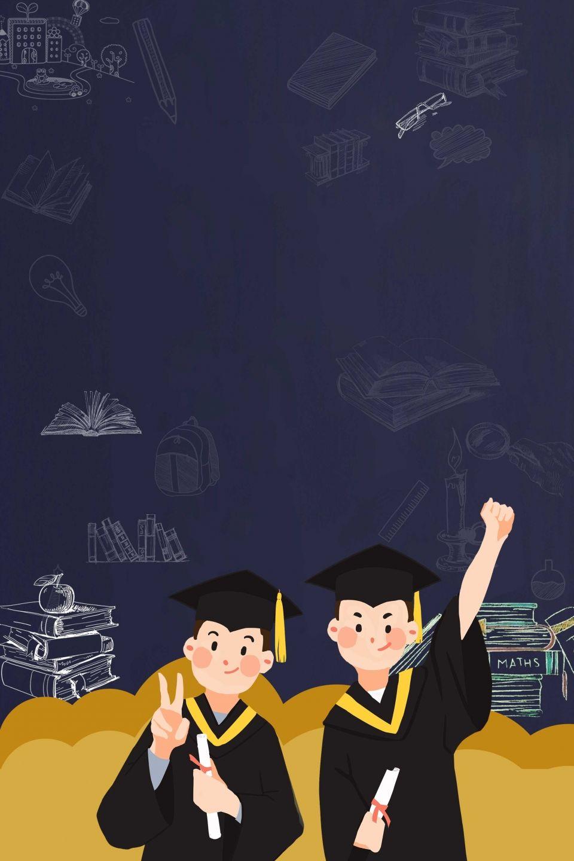Blackboard Graduation Season Poster Background