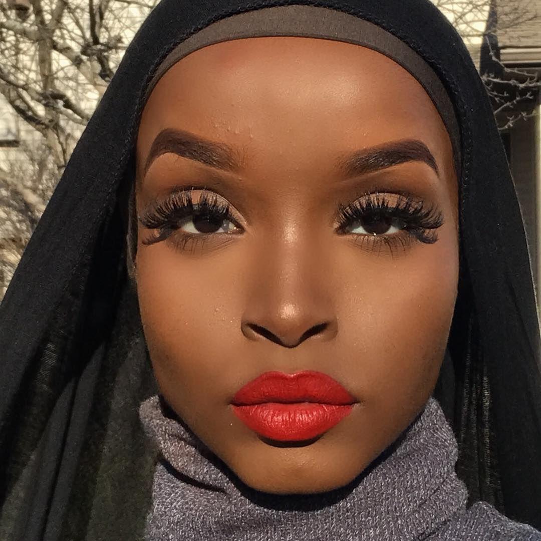 "Fenty Beauty ""Stunna"". Red lipstick on dark skin. Lipstick"