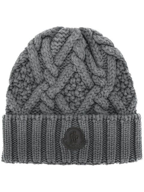 Moncler Classic Knitted Beanie Hat Modesens Mens Beanie Hats Beanie Hats Knit Beanie