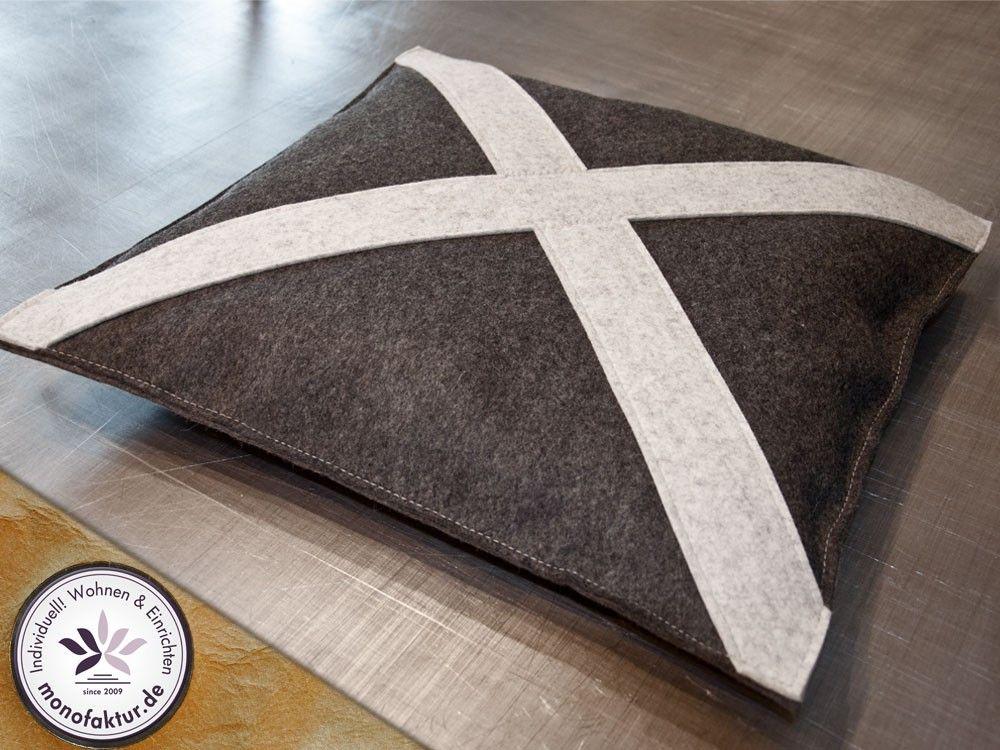 sch ner wohnen kissen kissenbez ge aus filz online kaufen ideas for living filzen kissen. Black Bedroom Furniture Sets. Home Design Ideas