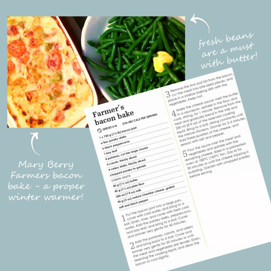 Mary berrys farmers bacon bake whats 4 dinner pinterest bacon joint cooked with veg ccuart Gallery