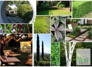 Garden Design Mood Board moodboard for a sociable family garden | vialii: moodboards