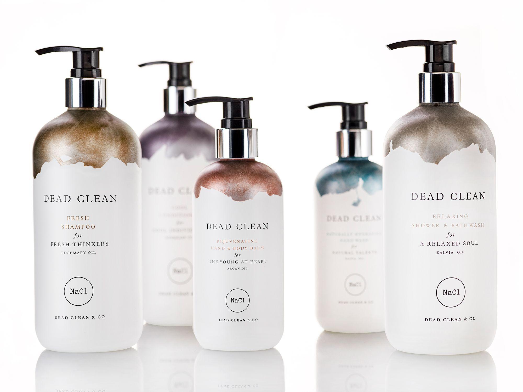 The DEAD CLEAN line Shampoo packaging