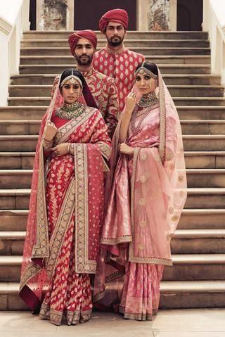 Photo of Sabyasachi Pink-Red Benarasi Saree
