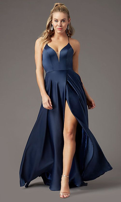 Corset Open-Back Long Formal Prom Dress by PromGirl