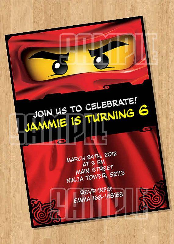Ninjago Birthday Party Invitation By Cutiesparties Com 5 00 Lego
