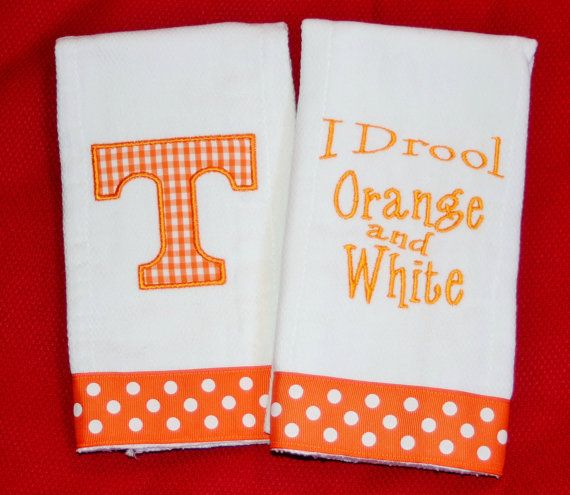 I Drool Orange and White Tennessee Vols Burp by BebesStitches