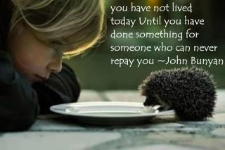 Altruism at its finest.
