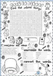 3 Word Cloud Back to School Printables - LalyMom