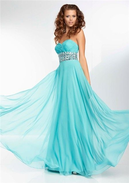 Long Turquoise Prom Dresses Handmade Beaded New Arrival X ...