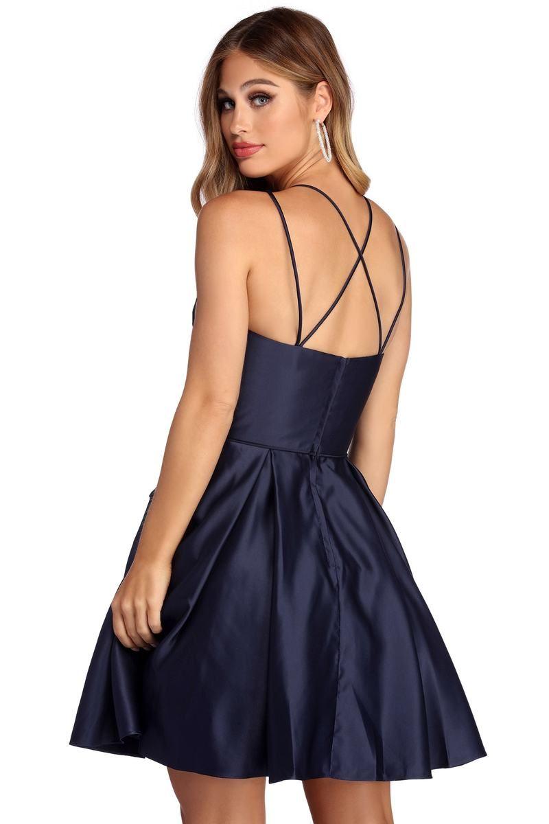 Deb Formal Rhinestone Party Dress Dresses Party Dress Deb Dresses [ 1200 x 800 Pixel ]
