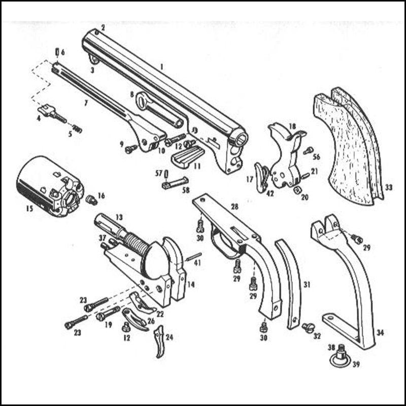 Pietta 1851 Navy Revolver Parts
