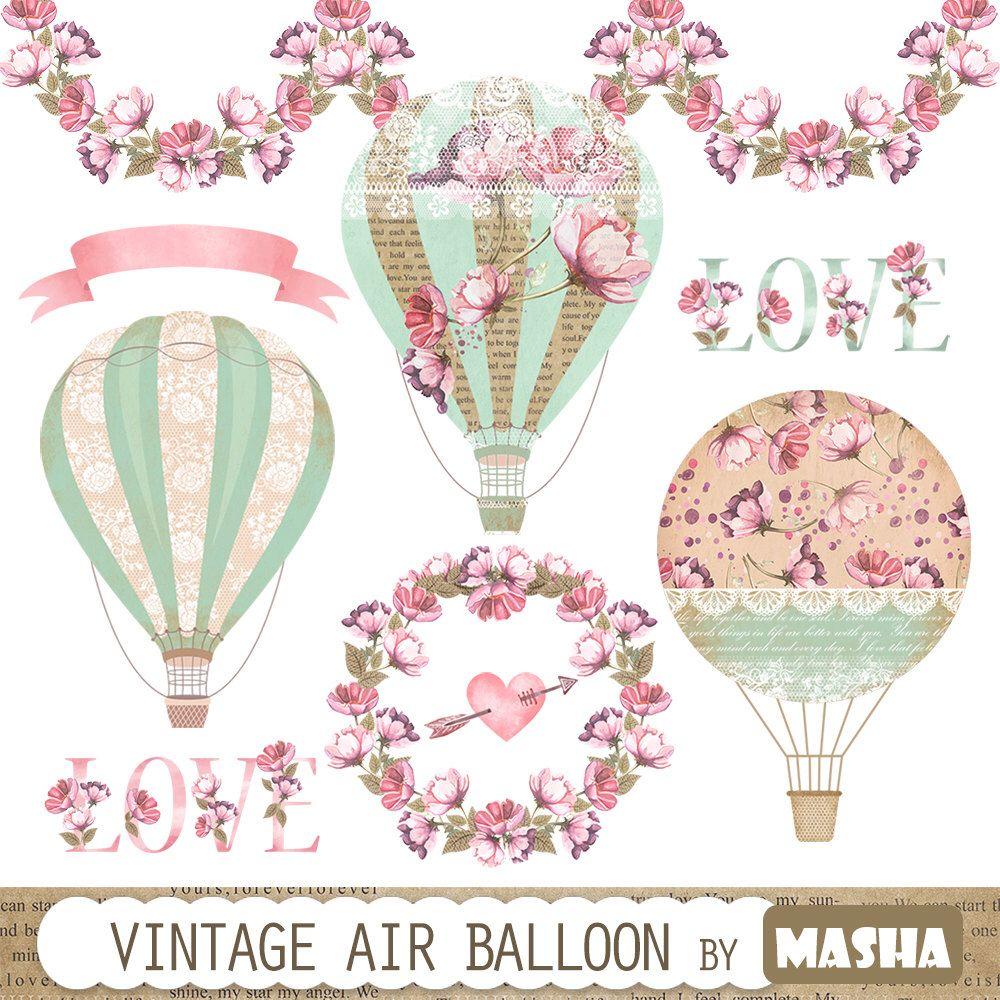 "vintage balloon clipart ""vintage"