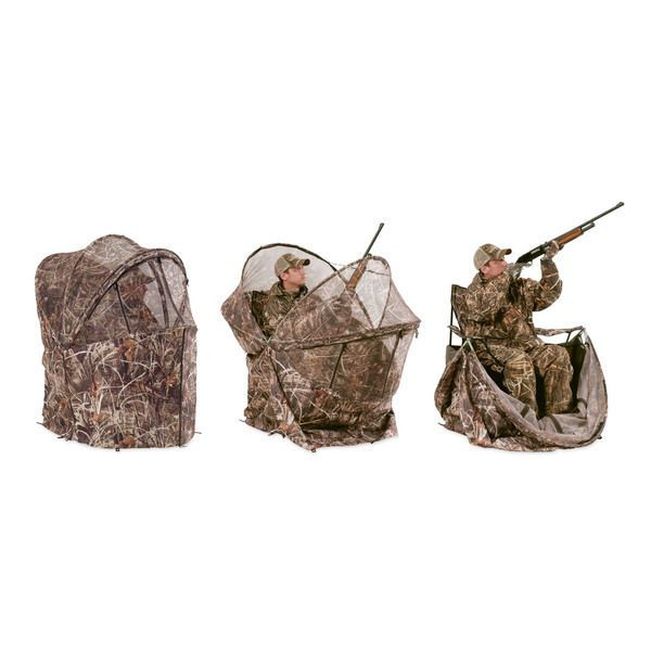 duck blind chair height adjustable camo hunting set deer commander seat rifle bow and arrow gear ameristep