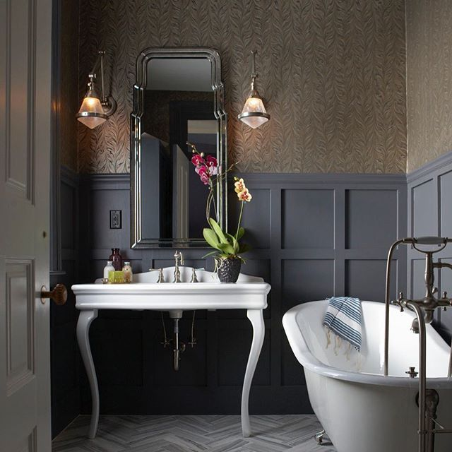 Masculine Master Baths: This @rrinteriors Bathroom Is A Perfect Blend Of Masculine