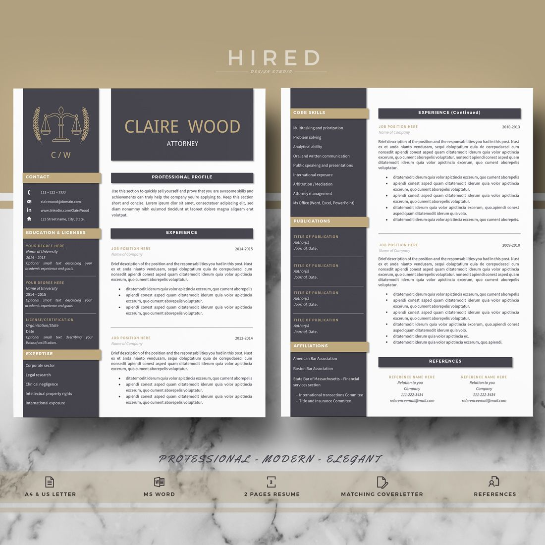 Resume template for Ms Word | Resume Templates for MS Word ...