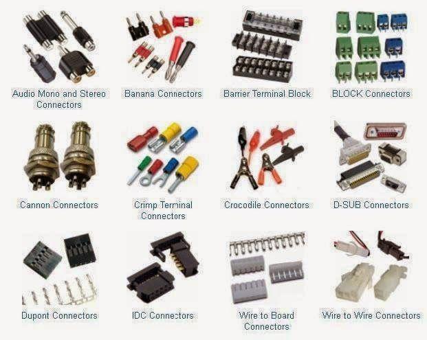 Types Of Connectors Trabajo Electrico Ingenieria Electrica Conectores