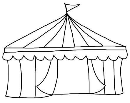 Circus Tent Circus Tent Circus Crafts Circus Tent Drawing